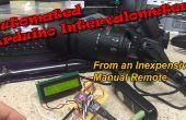 Geautomatiseerde intervalmeter van een goedkope ontspanknop kabel