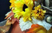 Elegante bloemen pompoen