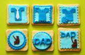 Vaderdag Fondant Cupcake Toppers