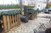 DIY vat houtkachel buiten oven