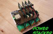 Macht Stacker: Stapelbaar USB oplaadbare batterij systeem