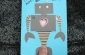 Robot Heartbeat Valentine Card