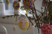 Eierschalen geschilderd voor Pasen