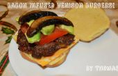 Bacon geïnfundeerd hertenvlees hamburgers!