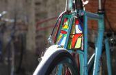Hoe maak je een fietsverlichting gebrandschilderd glas