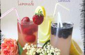 Floral limonade-limonade een inkeping opgevoerd