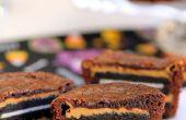 Oreo en pindakaas Brownie cake