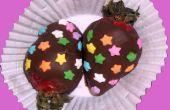 Chocolade bedekt aardbeien
