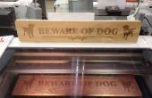 Pas op voor de hond teken