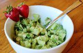 Groene salade van kip