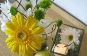 Fruit/bloemen bruiloft middelpunt