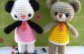 Amigurumi haken patroon twee kleine beer Amanda en Annie