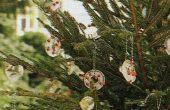 Goedkope 'gemakkelijk 'n ijzige' openlucht kerstboom ornamenten