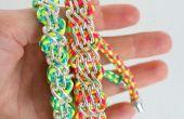 Koord armband ontwerpen met snoer en ketting