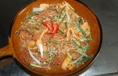 Me Grob-rijstnoedels in Sweet en Sour saus