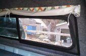 Verwisselbare schermen voor de shell van een vrachtwagen camper