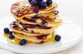Amerikaanse bosbes pannenkoeken recepten voor troostend