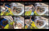 Hoe schoon de hele GARNALEN / GARNALEN - (snijden, schillen, -ader & schoon)