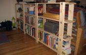 Goedkoop, eenvoudig, weinig afval boekenplank plannen