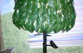 Uw eigen groene lampenkap maken voor een boom-Lamp