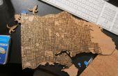 Laser gesneden houten kaarten met openbare gegevens