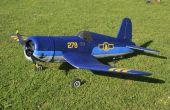 RC Model Corsair F4U gemaakt van Depron