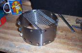 Windsheild/pot staan voor kunt stove