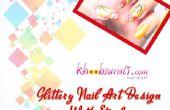 Glittery Nail Art met lijnen