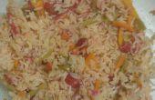 Eenvoudige magnetron plantaardige rijst