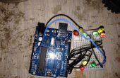 Traffic-light, 9 geleid met behulp van de Arduino Uno