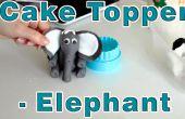 Hoe te maken suiker plakken Fondant Elephant taart Topper