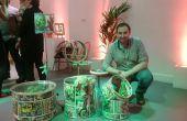 Super held thema Kinder speelgoed opslag instellen UpCycled uit een drumkit