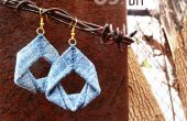 Upcycled Denim oorbellen DIY sieraden Tutorial door upmade