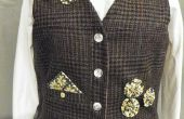 Vest van een oude wol pak jas
