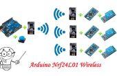4 Arduino 4 Nrf24L01 draadloze communicatie
