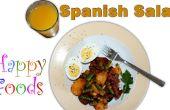 Gemakkelijk Spaanse Chorizo, ei, aardappel en Bean Salad Recept
