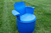 Gerecycled 55 Gallon Barrel-stoel