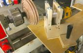 Router cannelure Jig voor hout draaibank