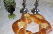Davidster vormige Challah brood