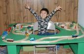 Hoe het bouwen van een trein tafel met gat in Midden - eindigde in uren