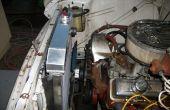 Het installeren van een nieuwe radiator in een 1957 Chevy Truck
