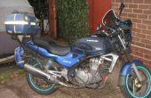 Herstellen van een motorfiets stoel