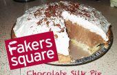 """""""Fakers vierkant"""" zijde chocolade taart"""
