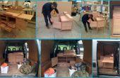 Kleine keuken bouwen (alles in één eenheid van de keuken/tafel en stoel)