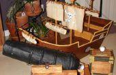 Piraat op schip en lucht kanon carnaval Game