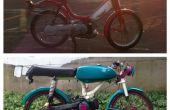 Bouwen van een fiets: aangepaste Honda Hobbit bromfiets