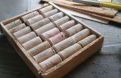 Een snelle en rustieke wijn-cork board