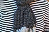 Eenvoudig gebreide sjaal
