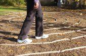 Bouw een achtertuin labyrint