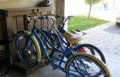 Houten Pallet - fiets en Scooter rek